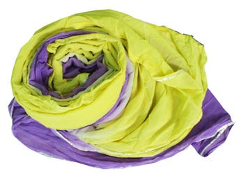 VintageLibaaz Dupatta Indian Used Craft Fabric Solid Long Stole Summer Home Decor Shaded Scarf Women Neck Hijab Veil 74 X34