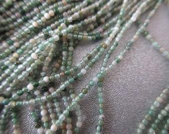 "Tree Agate Round Beads 2mm 16"""