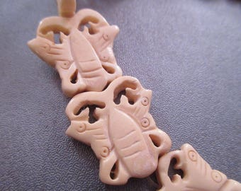 Bones Carved Buttefly Beads 15pcs