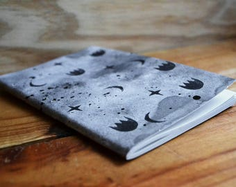 Book handmade painted and stamped