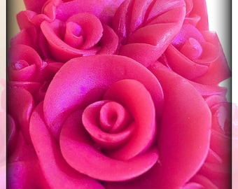 Free Shipping Organic Rose soap-Artisan Soap/bar soap/roses/Valentine's day/2.85-3oz/party favors/guest soap/wholesale