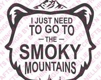 Smoky mountains SVG