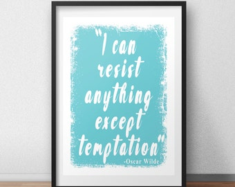 Oscar Wilde quote, Inspirational, Typography print / poster