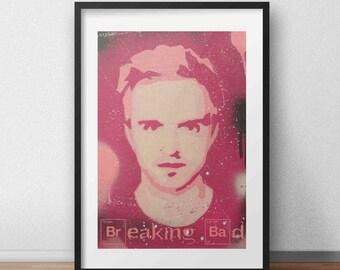 Breaking Bad Jesse Pinkman Pink Poster