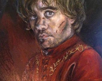 Tirion Lannister oil portrait GAME OF THRONES