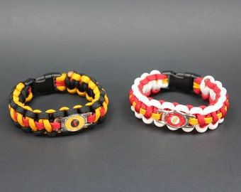 Flash vs. Reverse Flash - NEMESIS Collection - Paracord Bracelet (please be sure to read sizing instructions before ordering)
