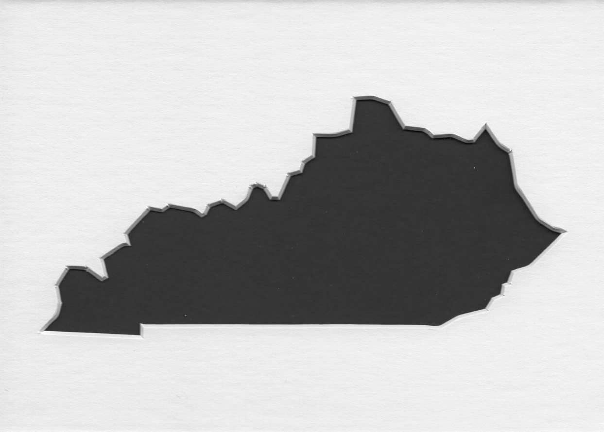 Kentucky Stencil Made From 4 Ply Mat Board