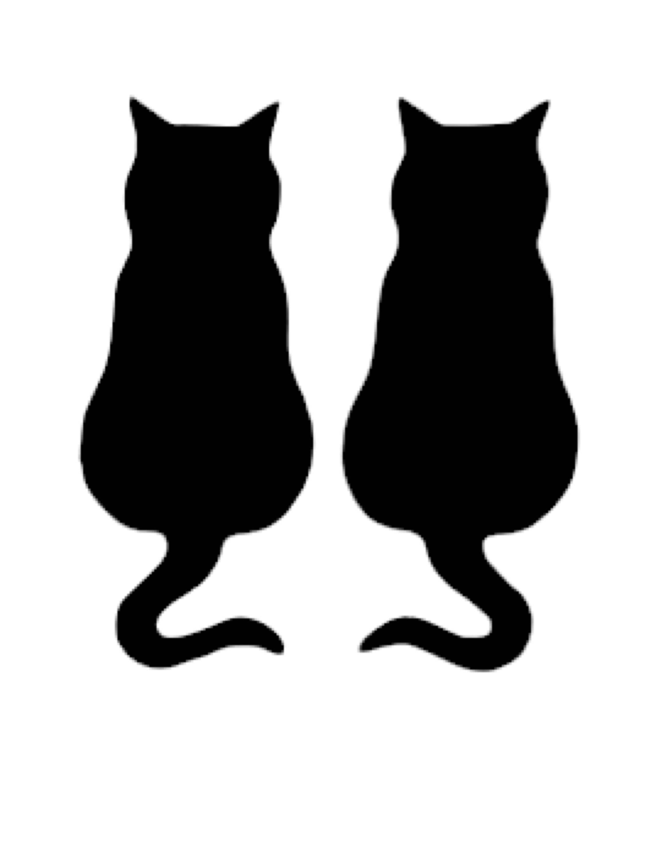 Two Cats Side By Side Stencil Made From 4 Ply Mat Board