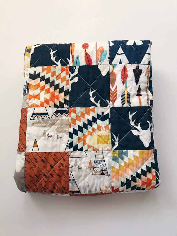 Woodland Baby Quilt Baby Quilt For Sale Baby Boy Quilt Deer