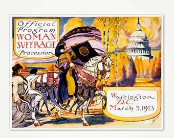 Women's Suffrage Program Cover Art - Woman Suffrage Parade of 1913 - Women's March on Washington