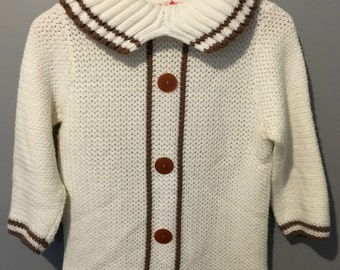 Vintage 1960s Lady Barbara Virgin Acrylic Pullover Sweater Size Small