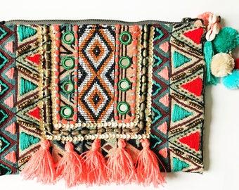 Bali Embellished Clutch