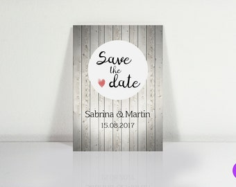Save the date postcards (wood)