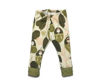 baby leggings // organic baby leggings // fairy leggings // organic baby clothes // baby gift // toddler leggings // baby leggings girl