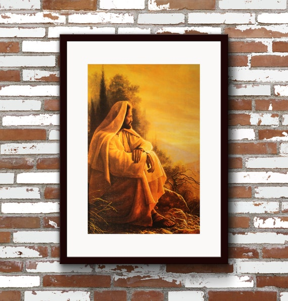 Wall Decor Jesus : Wall d?cor o jerusalem christian art jesus decor