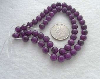 Strand of 8 mm Glass Beads - Blackberry Jam (1300BJ)