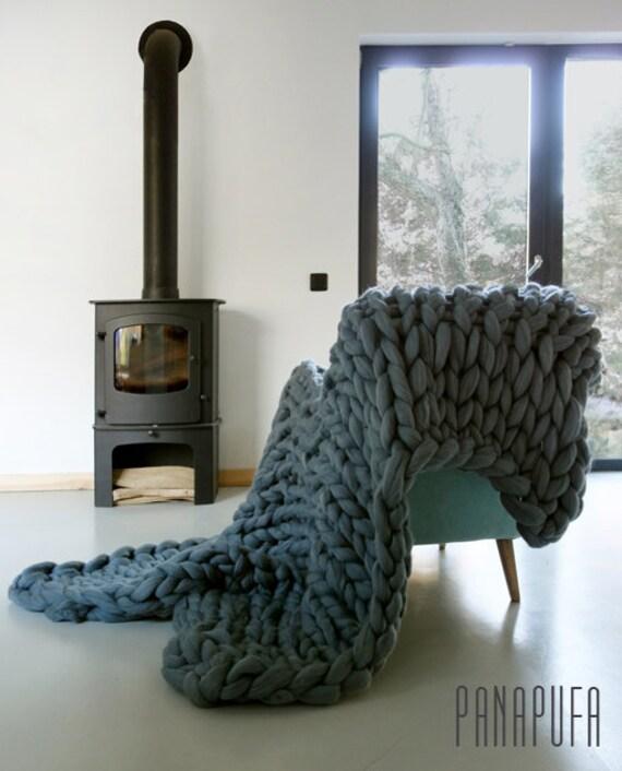 Chunky Wolle Decke : chunky knit decke chunky wolle decke decke gestrickt von ~ Watch28wear.com Haus und Dekorationen