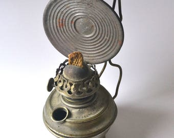 Very Old Miniature Kerosene Lamp, Suitable for Parts or Repurpose, Late 1880s, Vintage Decor