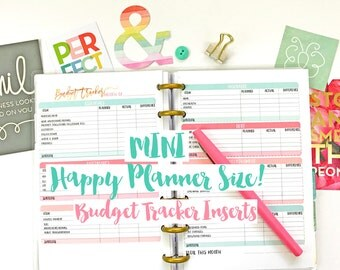 MINI Happy Planner Budget Tracking Printable Planner Inserts PDF Instant Download