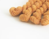 Hand dyed embroidery yarn   pumpkin orange   embroidery wool   wool   silk   laceweight knitting   cross stitch   tapestry   weaving   20m