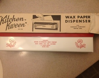 Vintage Kitchen Kween Wax Paper Dispenser