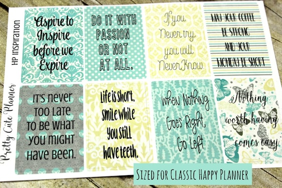 Happy Planner Stickers - Inspirational Quotes Planner Stickers - Full Box Stickers - Functional Sticker set - Motivational Stickers