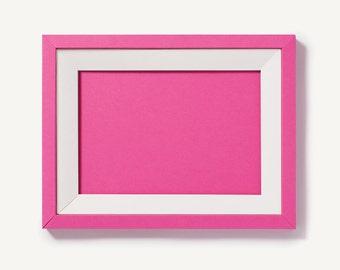 Flamingo Pink Foldable Paper Frame