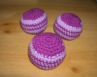 3 balls - juggling balls - stress balls - juggling balls - crochet - D 6 cm - CA. 80 g