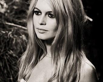 Brigitte Bardot 4x6 inches 10x15 cm Portrait Photo Art Poster Print