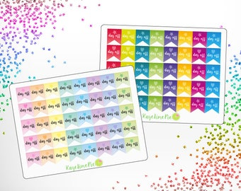 Day Off Flag Planner Stickers