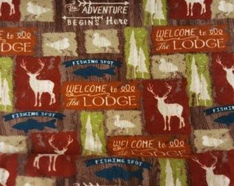Welcome to the Lodge Fleece Tied Blanket