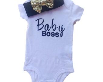 Baby Boss Onesie