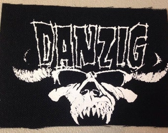 PATCH Danzig Demon Skull Silkscreen DIY