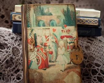 Alice in Wonderland Book Jewelry Box-Alice Book Box-Alice Proposal Box-baby box furniture-money storage-fairy tales-Engagement Ring Box