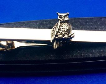 Owl tie bar