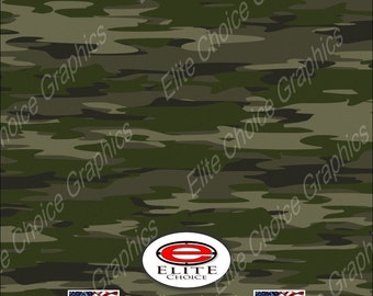 "Traditional Green Tree Camo 15""x52"" or 24""x52"" Truck/Pattern Print Tree Real Camouflage Sticker Roll or Sheet"