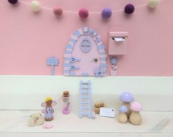 Purple fairy door | Etsy