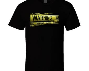 Warning Yellow Tape T Shirt