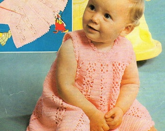 Baby Dress And Coat, Crochet Pattern. PDF Instant Download.