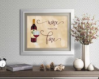 Wine lover print, Wine lover artwork, wine bottle artwork, wine glass print, red wine print, red wine artwork, wine print, wine glass print