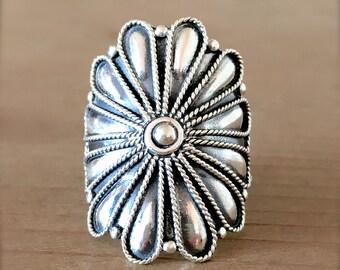 Wild Flower Sterling Silver Ring, Silver Flower Ring, Flower Ring, Silver Ring, Gypsy Ring, Bohemian Jewelry, Mermaid Jewelry, Boho