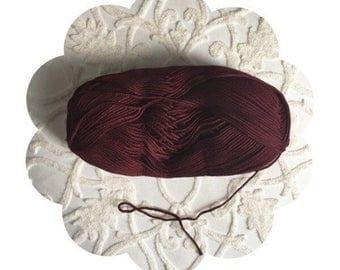 Burgundy yarn. Luxurious cotton bamboo yarn. Extra soft burgundy yarn. Baby bamboo yarn. Craft crochet/knitting yarn supply. Burgundy bamboo