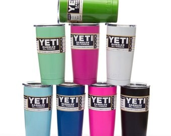 20oz Yeti Rambler, Color Yeti Rambler, Yeti Rambler with Decal