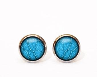 Leaf earrings turquoise stud earrings boho earrings wedding bohemian jewelry trendy jewelry modern earrings everyday stud earrings simple