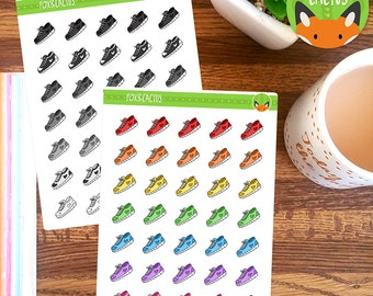 Running Shoes - Fitness Exercise Health Walking - Planner Stickers