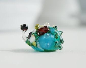 glass figurine, hedgehog, glass sculpture, lampwork, glass animals, miniature, statuette, figurines, blown glass, sculpture, blown glass,