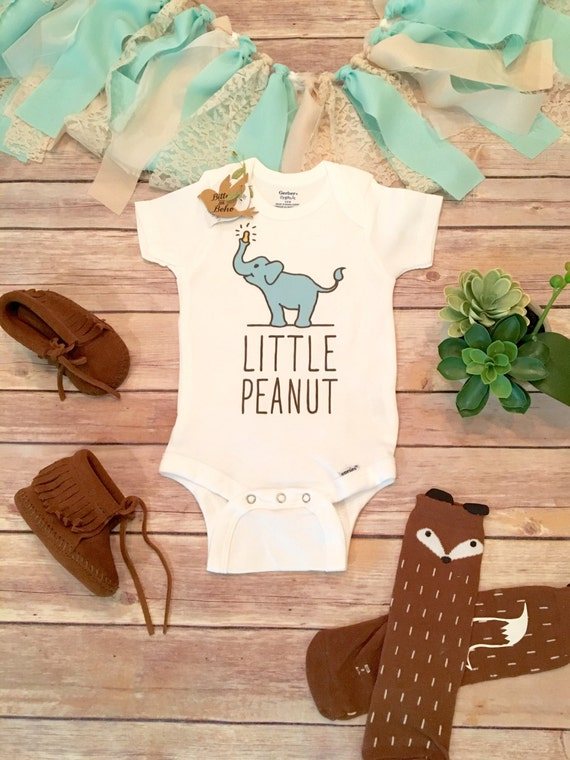 onesie little peanut baby shower gift elephant baby boho baby