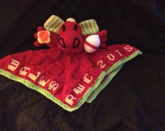 Welsh Dragon Baby Comforter
