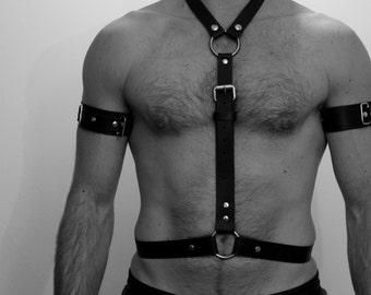 "Harness ""SHAPE"" leather Fetish"