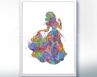 Disney Princess Snow White Watercolor Poster Print - Wall Decor - Watercolor Painting - Watercolor Art - Home Decor - Nursery Decor